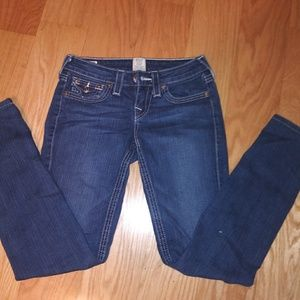 "Women's True Religion ""Jodie"" jeans. Sz 25x29"